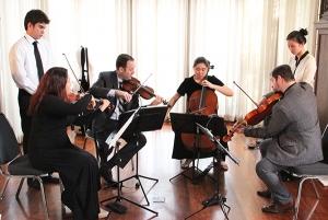 Miró Quartet coaches Young Chamber Musicians